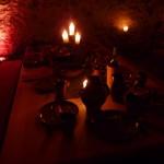Ritteressen bei Kerzenschein